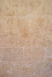 Tan Stone Wall Royalty Free Stock Images