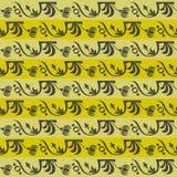 Tan striped флористический орнамент Стоковое Изображение RF