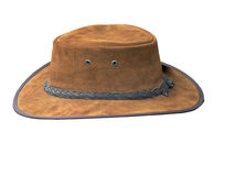 Tan Suede Stetson. A Tan Suede Stetson with clipping path Stock Photos