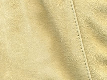 Tan suede with stitching Stock Photo