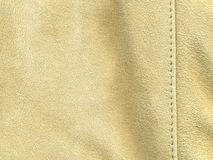 Tan suede with stitching Stock Photography