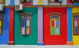 Tan Teng Niah Residence vibrante coloreada en Singapur Imagenes de archivo
