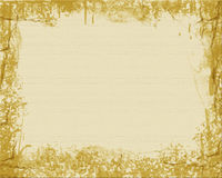 Tan Textured Background. With gold grunge frame Royalty Free Stock Photo