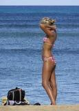 Tan van het strand Royalty-vrije Stock Foto