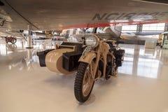 Tan Zundapp摩托车 免版税库存照片