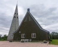 Tana Church, eine Gemeindekirche im Dorf von Rustefjelbma, Finnmark, Norwegen Stockfoto