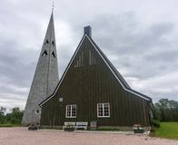 Tana Church, a parish church in village of Rustefjelbma, Finnmark, Norway. Tana Church, a parish church in town of Rustefjelbma, Finnmark, Norway stock photo