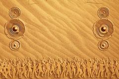 tana piaska mówcy zdjęcia stock