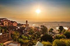 Tana skyline sunset Royalty Free Stock Image