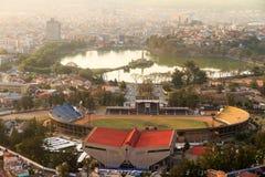 Tana stadioncityscape Arkivfoton