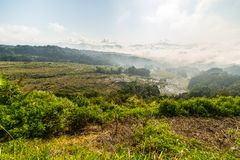 Tana Toraja landscape from above Stock Photo