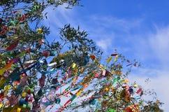 Tanabata节日装饰,京都日本 库存照片