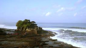 Tanah全部寺庙时间间隔在巴厘岛 股票视频