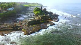 Tanah全部寺庙美好的空中风景  股票录像