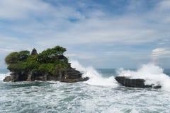 Tanah全部寺庙,巴厘岛印度尼西亚 免版税库存照片