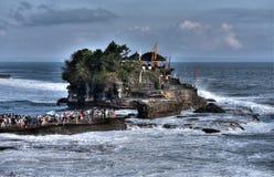 Tanah在海洋的全部寺庙 巴厘岛印度尼西亚 图库摄影