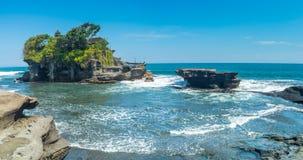 Tanah批次寺庙在巴厘岛印度尼西亚 免版税图库摄影