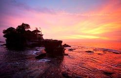 Tanah批次寺庙,巴厘岛,印度尼西亚。 免版税库存照片