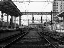 Tanah Abang railway station. Railway station at Tanah Abang Jakarta Stock Photo