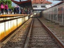 Tanah Abang railway station. Railway station at Tanah Abang Jakarta Royalty Free Stock Photo