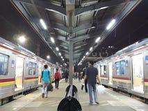 Tanah Abang railway station. Railway station at Tanah Abang Jakarta Stock Image