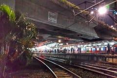 Tanah Abang railway station. Railway station at Tanah Abang Jakarta Royalty Free Stock Images