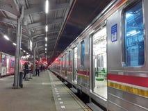 Tanah Abang railway station. Railway station at Tanah Abang Jakarta Stock Images