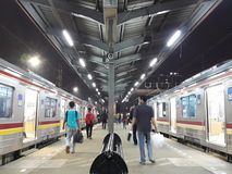Tanah Abang stacja kolejowa Obraz Stock