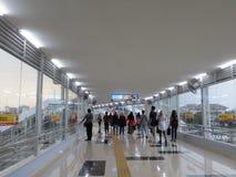 Tanah Abang station, Jakarta Royaltyfri Foto