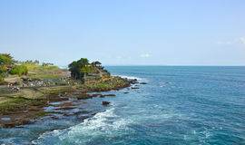 Tanah Lot against sea view, Bali, Indonesia Stock Photo