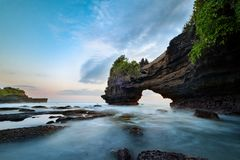 Tanah Lot & Batu Bolong temple. Stock Photo