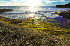 Tanah Lot beach, Bali Stock Images