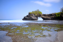 Tanah Lot Beach at Bali, Indonesia Royalty Free Stock Images