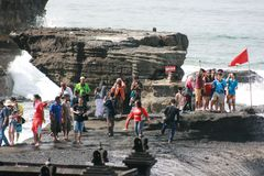 Tanah lot complex Stock Photos