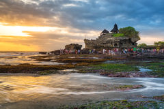 Tanah lot, Hindu temple in Bali, Indonesia Royalty Free Stock Images