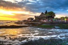 Tanah lot, Hindu temple in Bali, Indonesia Royalty Free Stock Photo