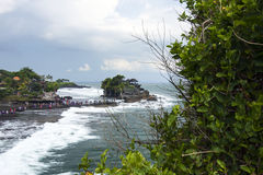 Tanah Lot, an Indonesian island. Significantly influenced by Hinduism; Indonesian architecture Stock Photo