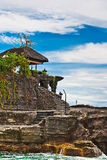Tanah Lot means Stock Image