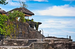 Tanah Lot means Royalty Free Stock Photos