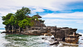 Tanah Lot means Royalty Free Stock Photography