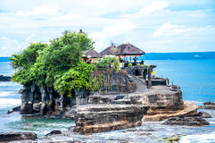 Tanah Lot means Royalty Free Stock Images