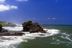 Tanah Lot and Ocean Waves. Stock Photo