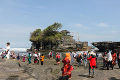 Tanah lot is one of the top 10 attractions in Bali Stock Photos