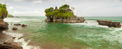 Tanah Lot sea temple bali. Balinese Tanah Lot temple, famous touristic place Royalty Free Stock Photo