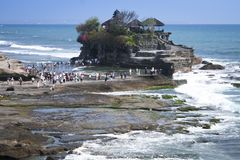 Tanah lot sea temple bali indonesia Royalty Free Stock Photos