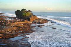 Tanah Lot temple Royalty Free Stock Photography