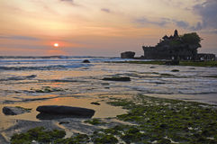 Tanah Lot temple. In Bali, Indonesia Royalty Free Stock Images
