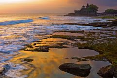 Tanah Lot temple. In Bali, Indonesia Royalty Free Stock Image