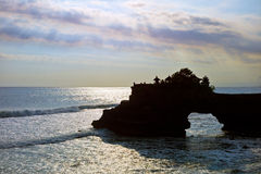 Tanah Lot temple in Bali Stock Image