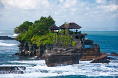 Tanah Lot Temple, Bali. Impressive Temple in the Indian Ocean, few hundreds feet from the shore Stock Photo
